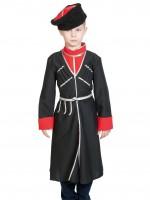Кавалерист-казак чёрный с красным (без шашки) дет. L