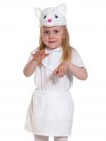Кошечка белая ЛАЙТ манишка