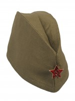 Пилотка ХАКИ звезда металлич. дет. р.52-54 (M-L)