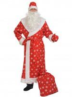Дед мороз ткань-плюш красный ВЗР XL