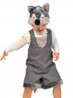 Волчонок ткань-плюш