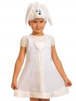 Заинька белая ткань-плюш