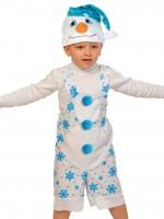 Снеговичок ткань-плюш
