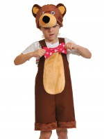 Медведь цирковой ткань-плюш