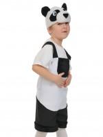 Панда ткань-плюш