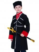 Кавалерист-казак чёрный с красным (с шашкой) дет. L