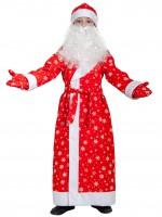 Дед мороз дет ткань-плюш красный  S