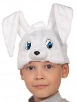 Зайчик белый шапочка
