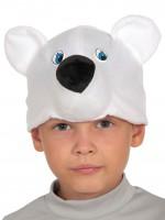 Мишка полярный шапочка