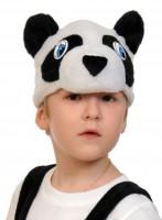 Панда шапочка
