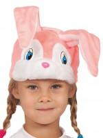 Зайка розовая маска