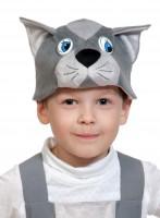Котик серый шапочка