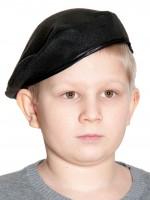 Берет чёрный (флис) детский