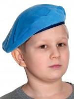 Берет голубой (флис) детский
