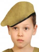 Берет хаки (ткань) детский