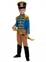 Гусар (замш) сине-бежевый с сапогами дет.   S