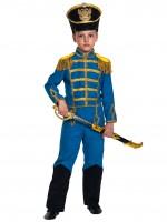 Гусар (замш) синий с сапогами дет.   S