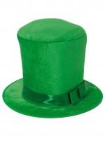 Шляпа -цилиндр зелёный