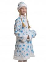Снегурочка ткань-плюш белая дет.  XS