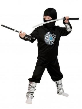 Ниндзя чёрный ЛАЙТ с мечом дет. M