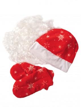 Набор Деда Мороза ВЗР. ПЛЮШ (шапка, варежки, борода)