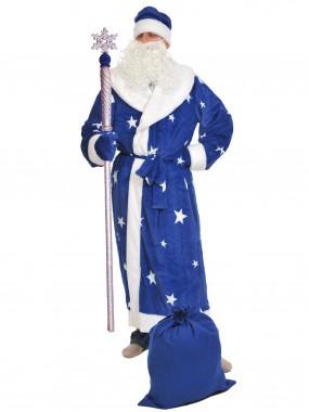 Дед мороз плюш синий, ВЗР XL