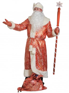Дед мороз парча красный ВЗР XL