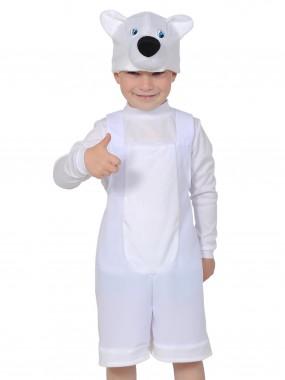Мишка полярный ткань-плюш