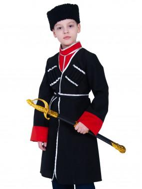 Кавалерист-казак чёрный с красным (с шашкой) дет.  M