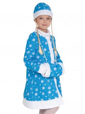 Снегурочка ткань-плюш бирюза дет.  XS