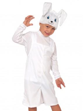 Зайчик белый плюш