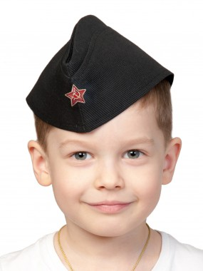 Пилотка ВМФ (чёрная) дет