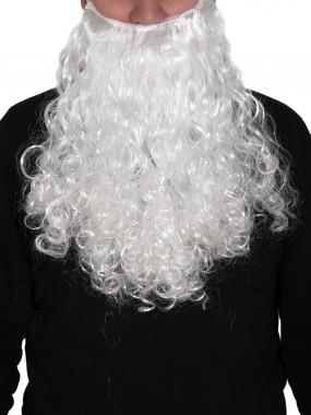 Борода Дед Мороз белая средняя