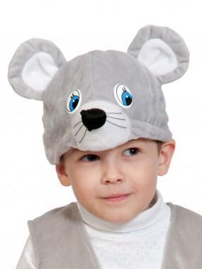Мышонок серый шапочка