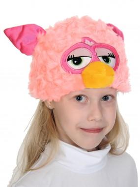шапочка Монстрик розовый сердечки