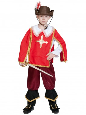 Мушкетер  Портос (красный) дет.   S