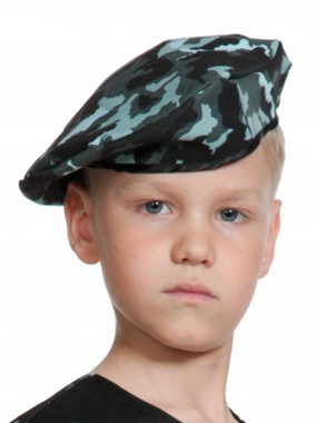 Берет КМФ спецназ (ткань) детский