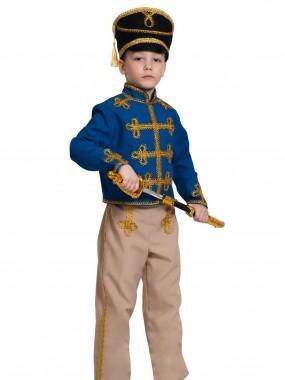 Гусар (текстиль) сине-бежевый дет. L