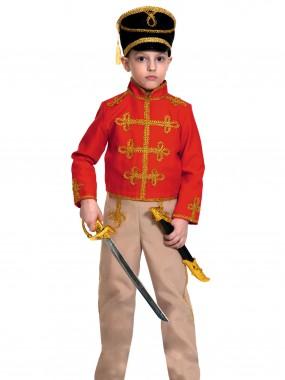 Гусар (текстиль) красно-бежевый дет. L