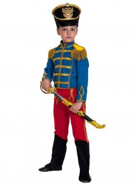 Гусар (замш) сине-красный с сапогами дет.   S