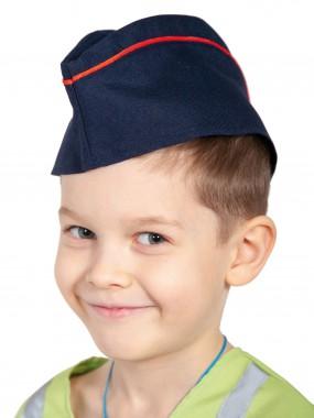 Пилотка МВД синяя с красным кантом