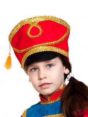 Кивер Гусар (текстиль) красный