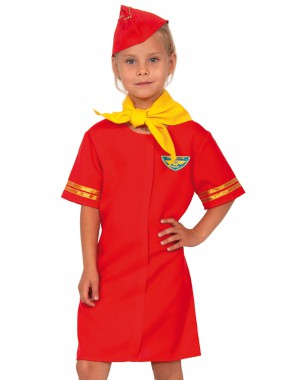 Стюардесса красная дет.  S