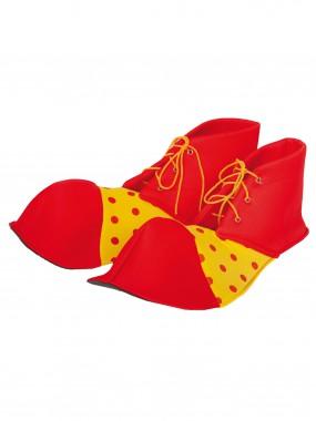 Ботинки Клоун Взрослые горох, 35см