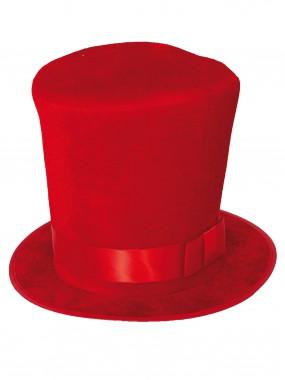 Шляпа -цилиндр красный