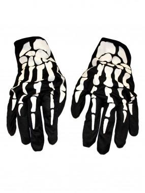 Перчатки скелет