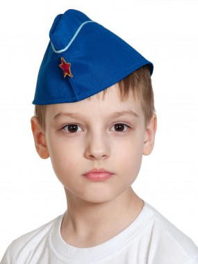 Пилотка ВВС (синяя) дет. с кантом