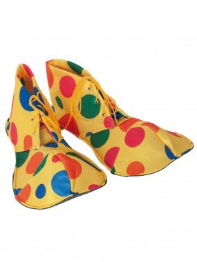 Ботинки Клоун Взрослые цветной горох